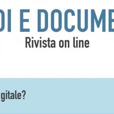 """Studi e Documenti"" n. 28 – Al di sopra del digitale?"
